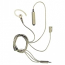 Motorola BDN6668 Beige 3-wire Surveillance Kit, PTT-Mic/Speaker Ear Bud