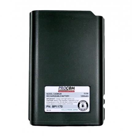 BATTERY FOR M/A-COM MONOGRAM - 10.8V / 1200 mAh / NiCd