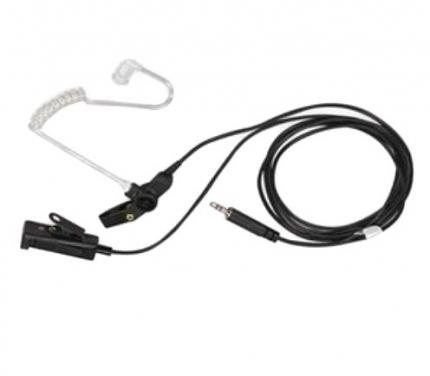 Motorola RLN5312 Surveillance Kit, 2-Wire, Black, Earpiece w/ PTT-Mic Combo